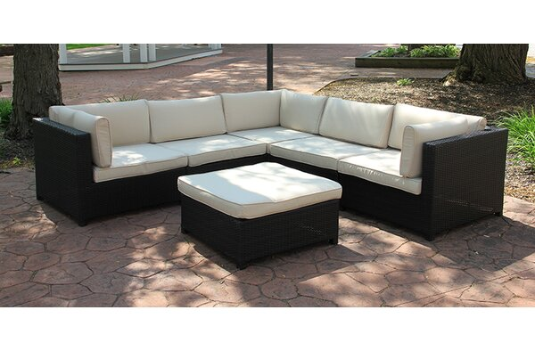 Delightful Northlight Outdoor Furniture Sectional Sofa Set With Cushions U0026 Reviews  | Wayfair