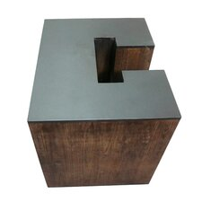 Letter-shaped (C) Wooden Accent Stool by Jeco Inc.