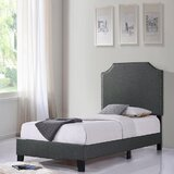 Austinn Solid Wood and Upholstered Low Profile Platform Bed by Red Barrel Studio®
