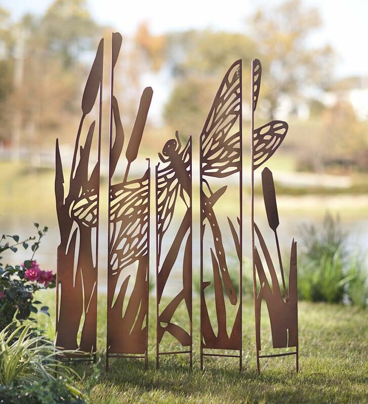 Wind Amp Weather Metal Panel Dragonfly Garden Stake