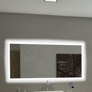 Reviews Rectangle Backlit Bathroom / Vanity Wall Mirror ByParis Mirror