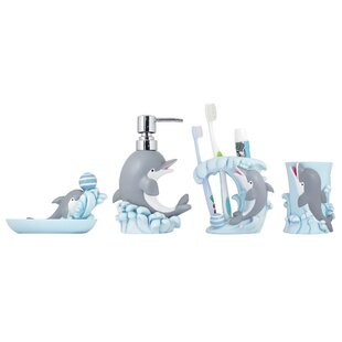 4 Piece Kids Bathroom Accessories Set