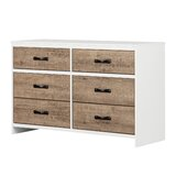 Hankel 6 Drawer Double Dresser by South Shore