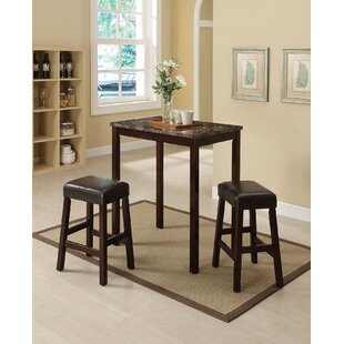 Idris 3 Piece Counter Height Dining Set Fresh