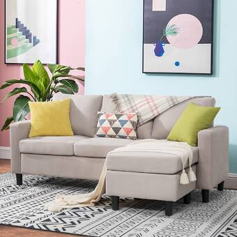 Latitude Run Armenda 103 5 Faux Leather Modular Sofa Chaise With Ottoman Wayfair