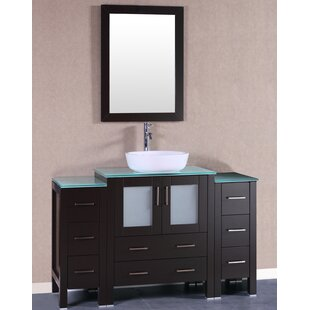 Madison 54 Single Bathroom Vanity Set with Mirror by Bosconi