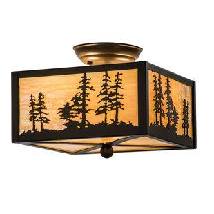 Shop For Greenbriar Oak 2-Light Outdoor Wall Lantern By Meyda Tiffany