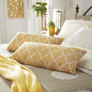 Wilmer Kidney Linen Lumbar Pillow (Set of 2)