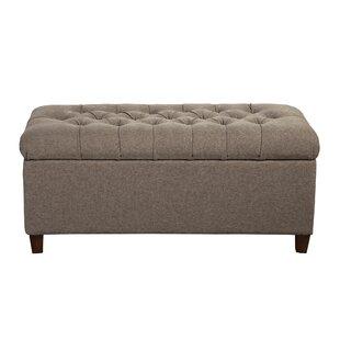 Delightful Halvorson Upholstered Storage Bench