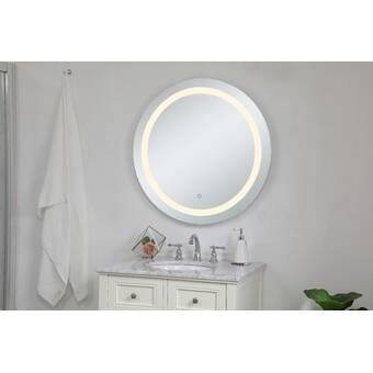 Orren Ellis Baraboo Lighted Bathroom Vanity Mirror Reviews Wayfair