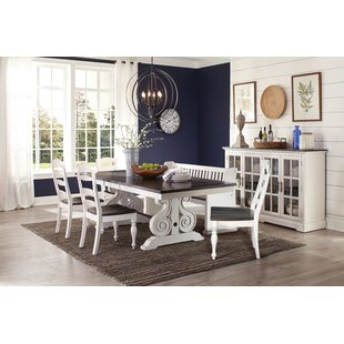 Villepinte Carriage House Trestle 6 Piece Dining Set
