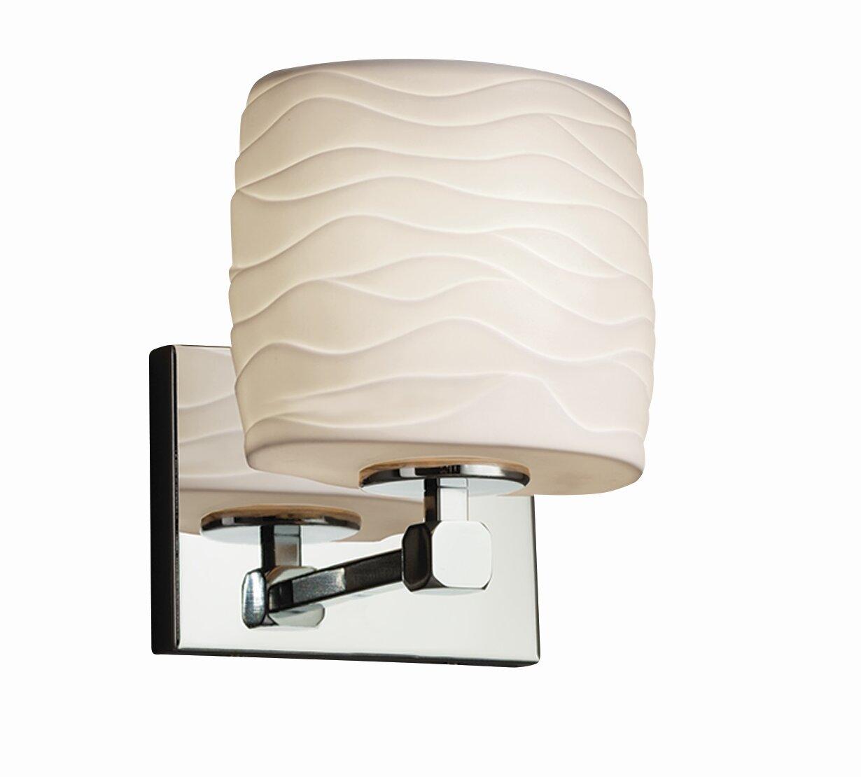 Ebern Designs Matthau 1 Light Polished Chrome Armed Sconce Wayfair