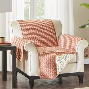 Floral Cotton Printed Box Cushion Armchair Slipcover