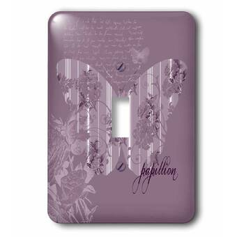 3drose Floral French Butterfly 1 Gang Toggle Light Switch Wall Plate Wayfair