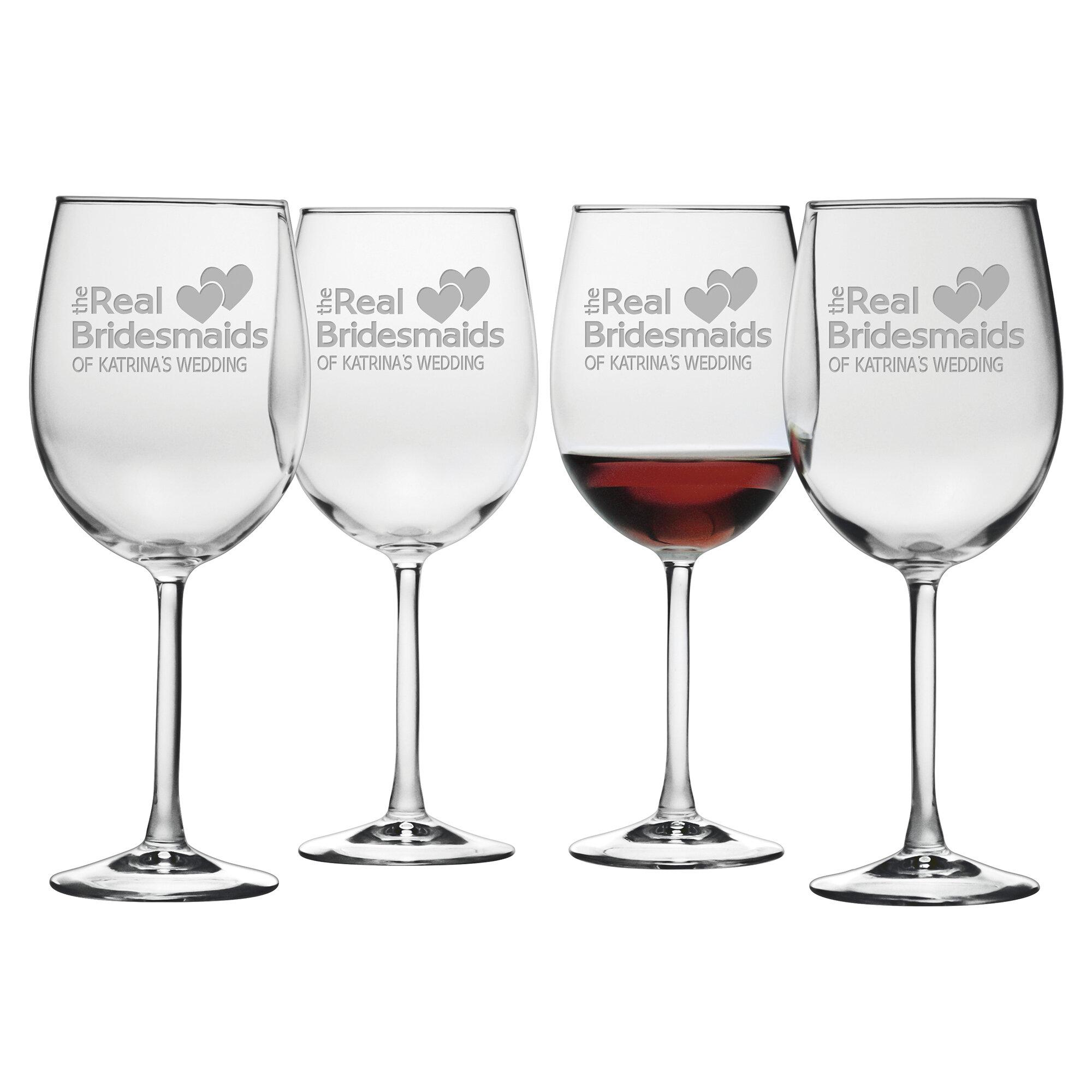 susquehanna glass real bridesmaids wine glass wayfair