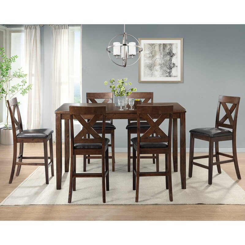 Makaila 7 Piece Counter Height Dining Set