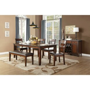 Ignatius Wooden 6 Piece Dining Table Set DarHome Co