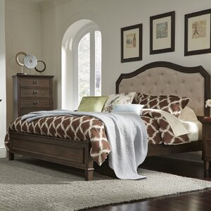 Abe Upholstered Panel Bed by Darby Home Co