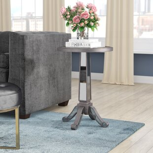 Best Reviews Corby Pedestal End Table ByWilla Arlo Interiors
