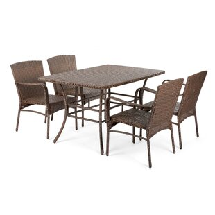 Depue Outdoor Garden 5 Piece Dining Set