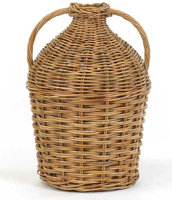 French Country Double Rattan Basket