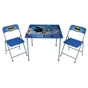 Batman Kids' 3 Piece Square Table and Chair Set by O'Kids Inc.