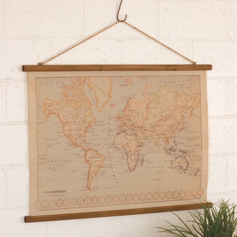Canvas printed world map wall hanging reviews joss main canvas printed world map wall hanging gumiabroncs Images