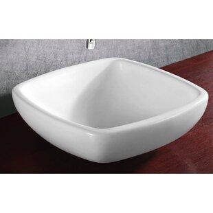 Deals Ceramica Ceramic Square Vessel Bathroom Sink By Caracalla