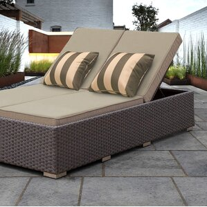 Benitto Double Chaise Lounge with CushionDouble Patio Chaise Lounge Chairs You ll Love   Wayfair. Double Chaise Chair. Home Design Ideas