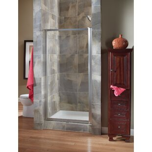 Chase 35 x 65 Pivot Framed Shower Door by Hazelwood Home