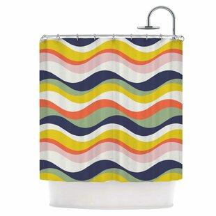 Rainbow Stripes Single Shower Curtain