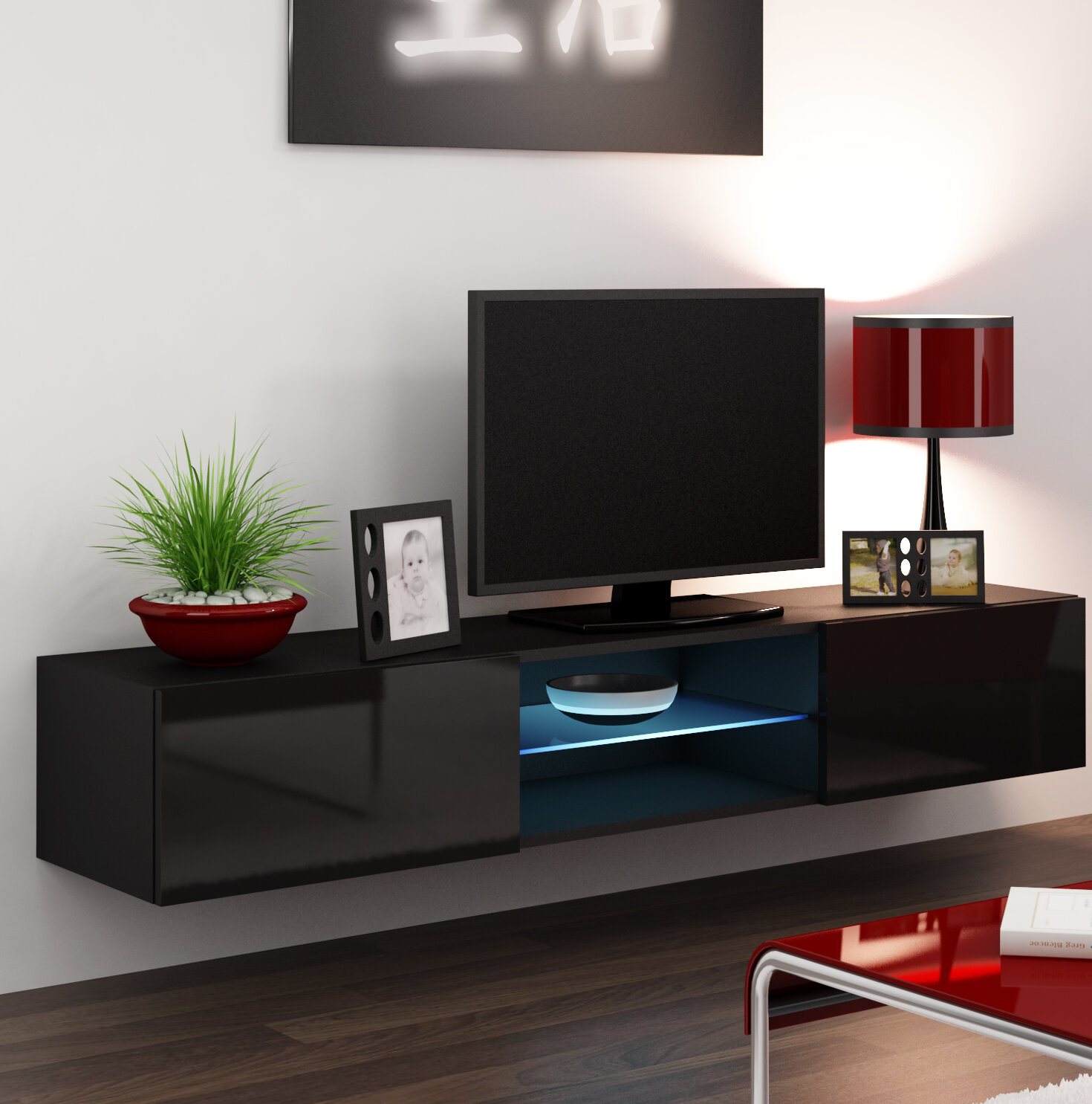 Jaggers Floating Tv Stand For Tvs Up To 78 Inches