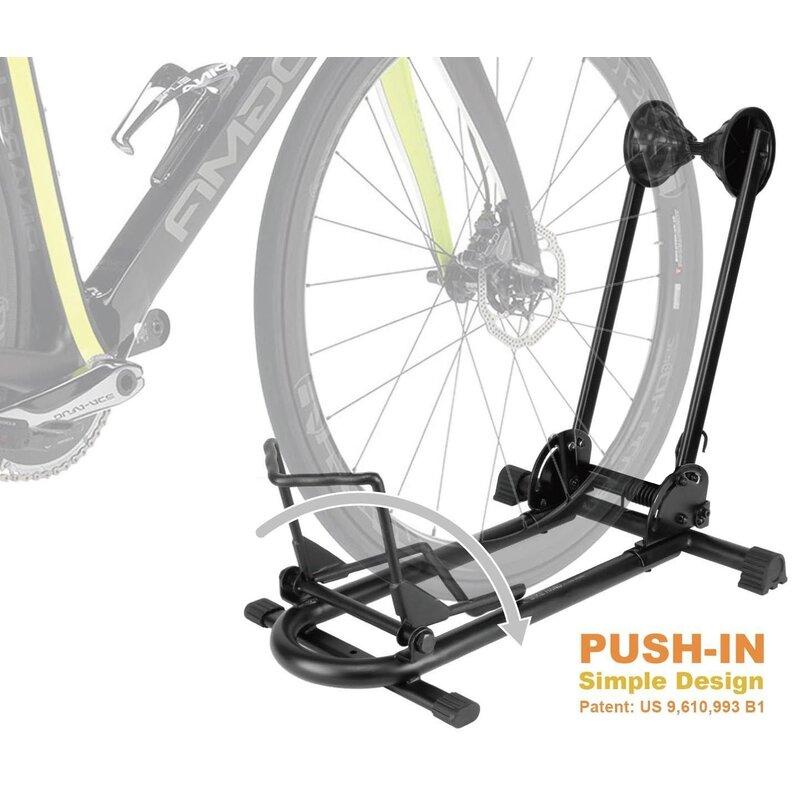 Adjustable 2 Bike Floor Parking Rack Storage Stand Bicycle