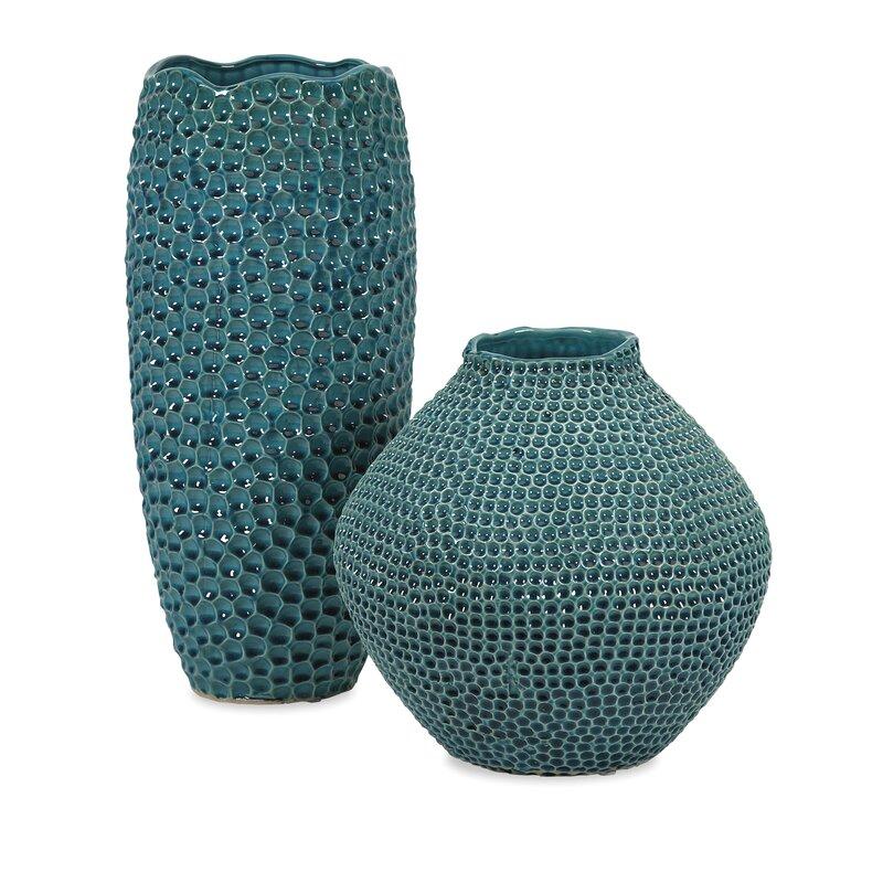 Latitude Run Tall Crater Ceramic Floor Vase Reviews Wayfair