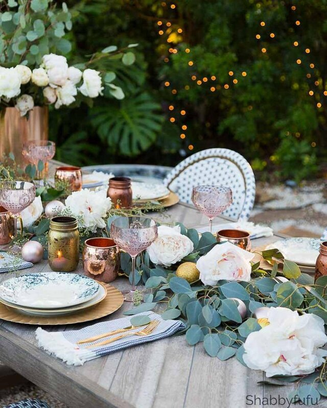 GLAM OUTDOOR TABLE SETTING