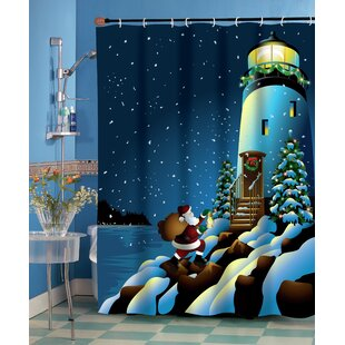 Find for Holiday Lighthouse Shower Curtain By Ben and Jonah