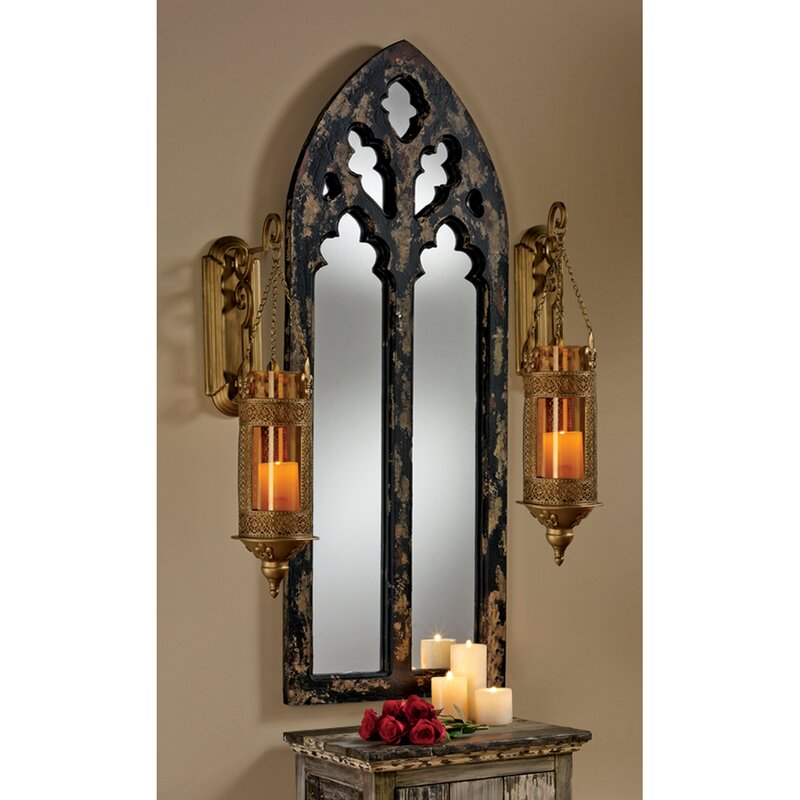Arch Wall Mirror design toscano gothic cathedral arch wall mirror & reviews | wayfair