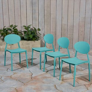 Dills Stacking Patio Dining Chair (Set of 4)