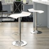 Mathison Adjustable Height Swivel Bar Stool (Set of 2) by Wade Logan®