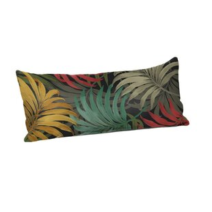 Brookmeadow Laperta Noir Outdoor Lumbar Pillow