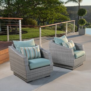 Castelli Patio Chair with Sunbrella Cushions (Set of 2)