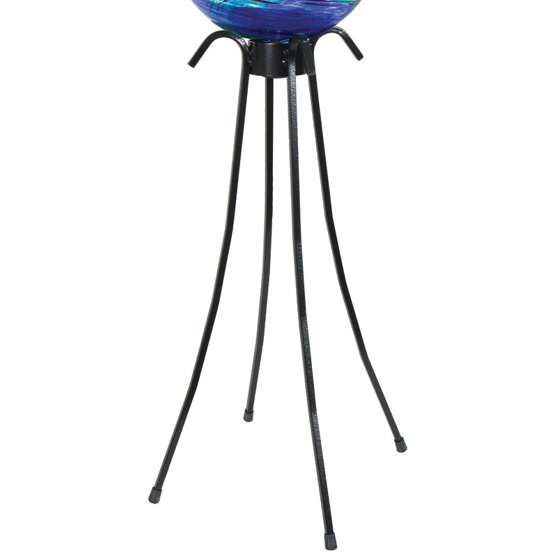 Low Profile Gazing Globe Pedestal Stand