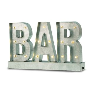 Bar Sign Wall Light By Williston Forge