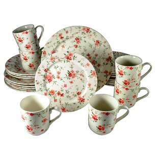Royal Summer Flowers 24 Piece Porcelain Dinnerware Set, Service for 6