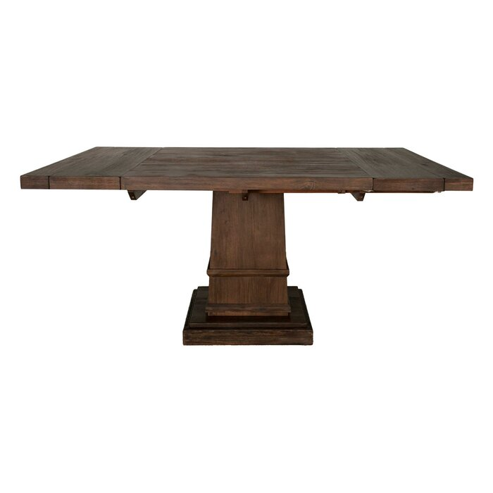 Amos Modish Square Extendable Solid Wood Dining Table