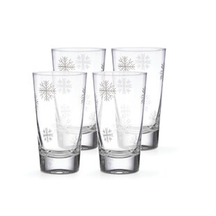 Alpine 16 oz. Glass Highball Glass (Set of 4)