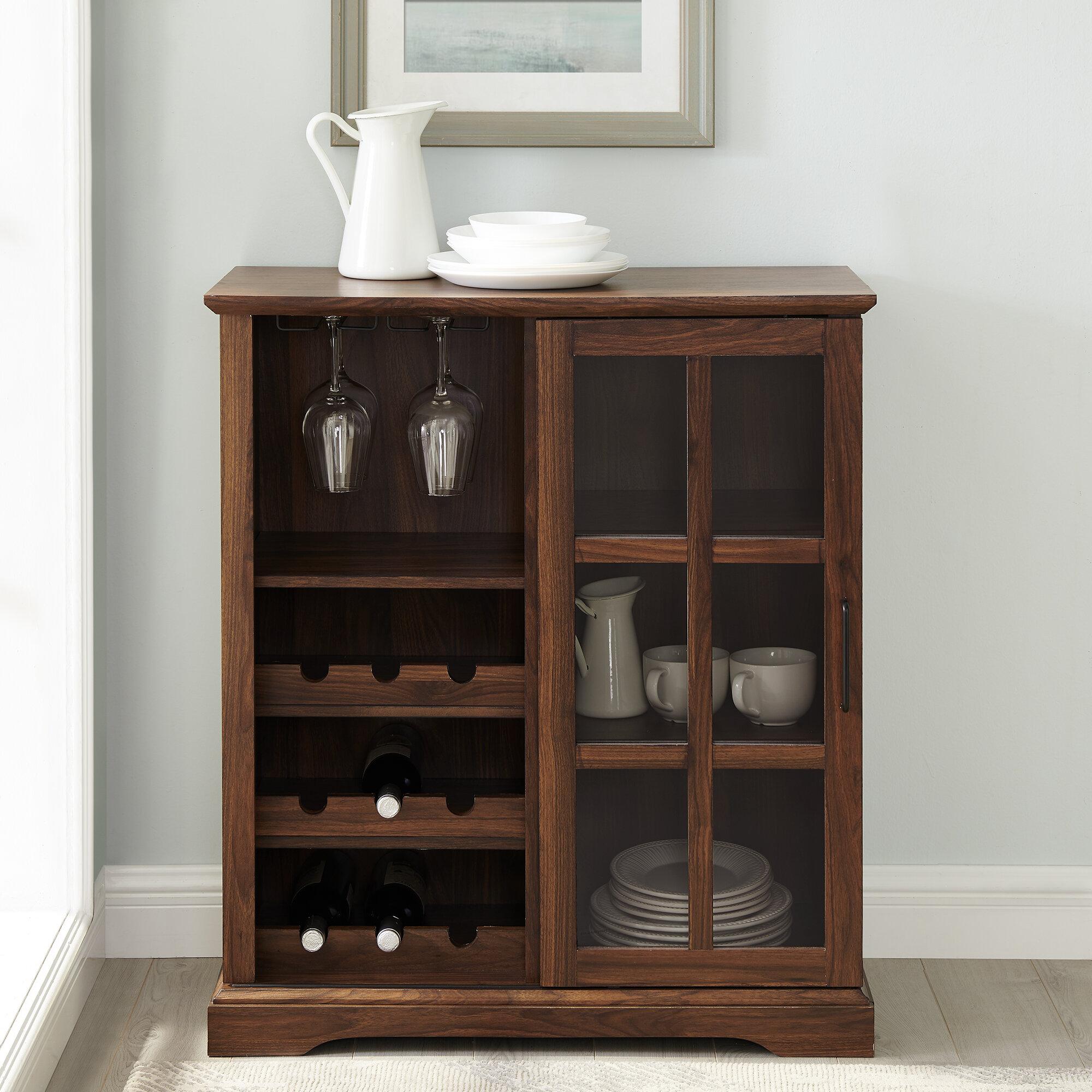 Hartwick Sliding Glass Door Bar With Wine Storage