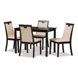 Everalda Modern and Contemporary 5 Piece Dining Set