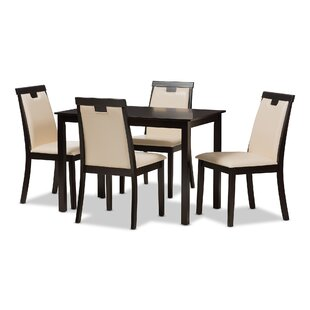 Opalstone Modern and Contemporary 5 Piece Dining Set