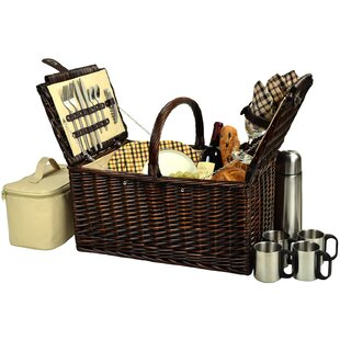 Basket with Coffee Flask for Four